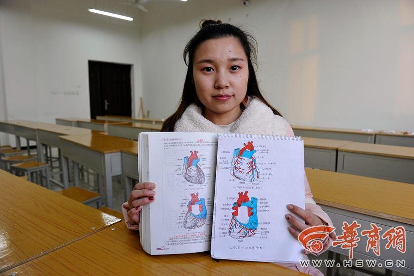 她手绘医学笔记走红
