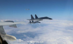 """中国空军轰-6K等多型战机成体系""""绕岛巡航"""""""
