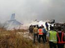 尼泊尔一客机坠毁伤亡不明 现场浓烟滚滚(组图)