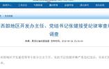 哈尔滨西部地区开发办主任张健接受审查调查