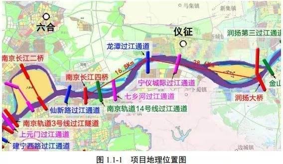 南京仙新过江通道桥型方案曝光!拟建悬索桥跨越长江 今年12月开