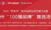 """2019贵州品牌全球传播行动暨贵州""""100强品牌""""推选活动"""