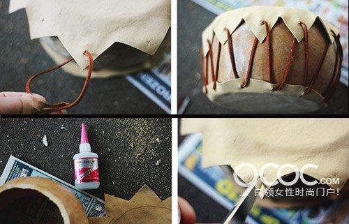 手工制作 手工diy木质小鼓儿童玩具