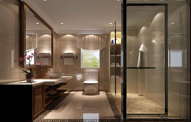 新中式四居卫浴间装修效果图欣赏