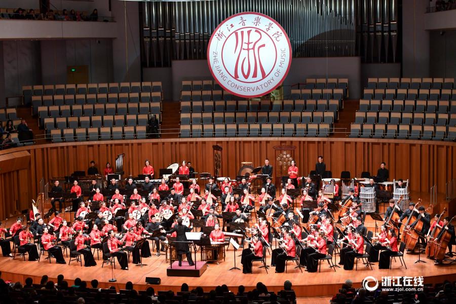 """3月9日晚,浙江音乐学院国乐团首次亮相国家大剧院音乐厅,上演了一场名为""""最忆是杭州""""的民族管弦乐专场音乐会,让众多京城乐迷大饱耳福。"""