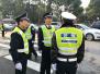 公安局长变身执勤交警 绍兴机关民警全警上路护交通