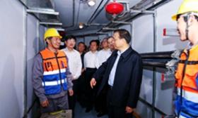 李克强考察武汉CBD地下综合管廊