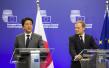 安倍会晤欧盟高层 推动日欧自贸协定