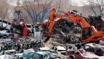 哈尔滨销毁300余台违法车辆