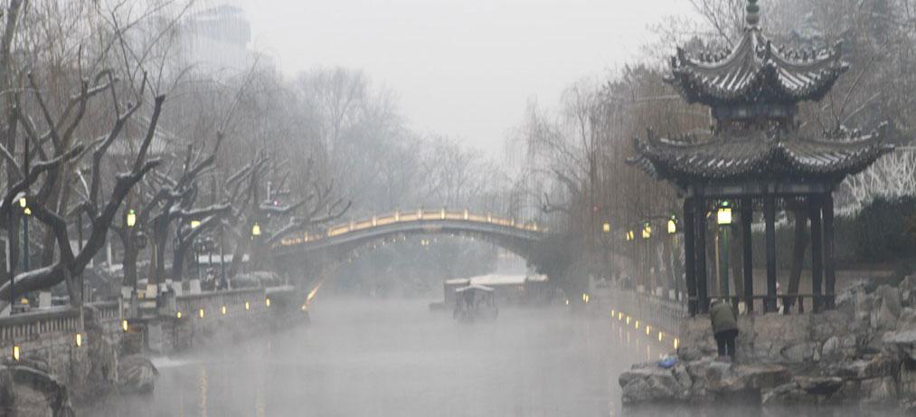 济南:雪中黑虎泉