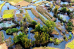 航拍生态绿洲 都安澄江国家湿地公园