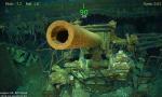 震撼!二战美军航母残骸