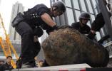 【组图】香港警方成功处置在湾仔工地地盘发现的第三枚炸弹