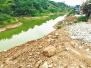 河道堰塞成湖 忠县长道河被建筑垃圾侵占