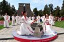 第十一届全国少数民族传统体育运动会火种采集仪式在郑州举行