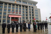 河南罗山:举行庆祝三八妇女节荣誉表彰暨第三次升国旗仪式