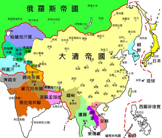 清朝宫城结构图