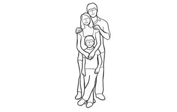 全家人简笔画图片
