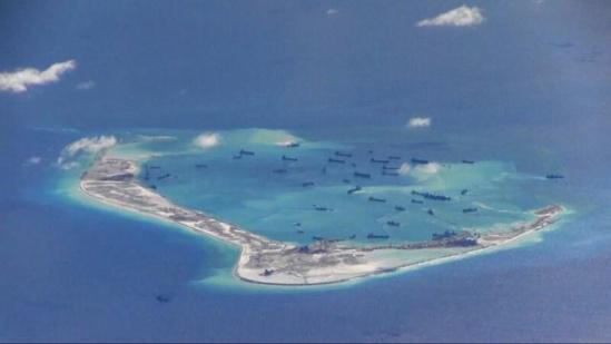 资料图:中国南海岛礁建设