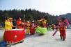 汉中女大学生寒假学民俗绝技走乡串户表演