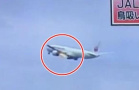 客机遭鸟撞击后起火
