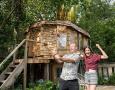 为女儿打造蘑菇树屋