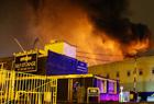 伦敦一仓库突发大火