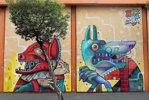 街头涂鸦搞风景独特