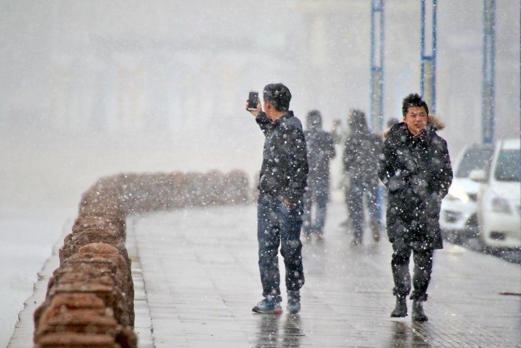 烟台迎来今年入冬首场降雪