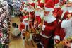 """美媒关注中国""""圣诞村"""":生产全球大半圣诞饰品"""