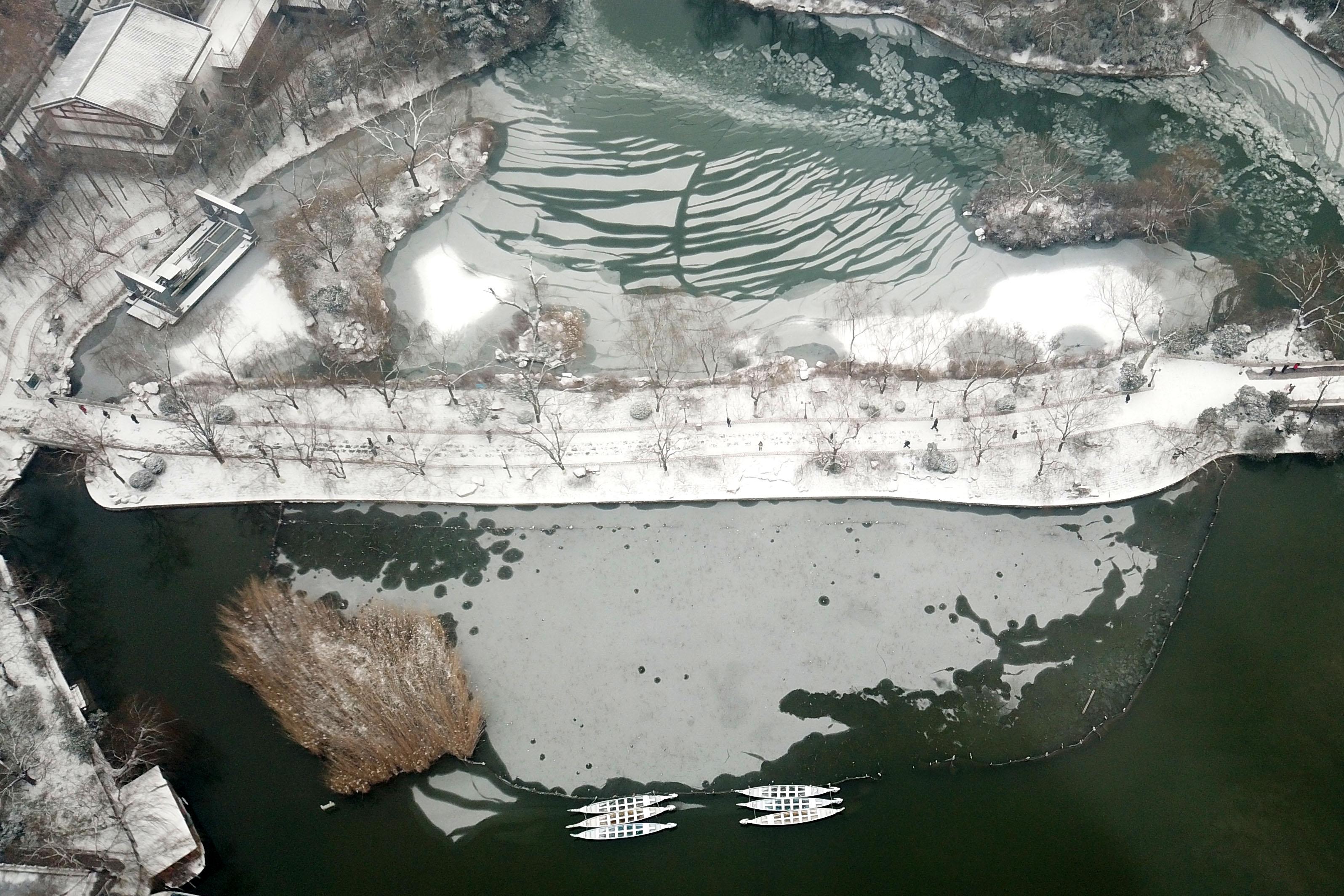 雪后大明湖美如画