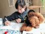 小学生手绘72幅熊猫