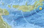 巴布亚新几内亚新不列颠岛附近海域发生6级地震