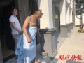 高温天,南京一男子神情恍惚,光溜溜地路上走