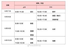 2020年高考时间安排发布:北京高考时间变为4天