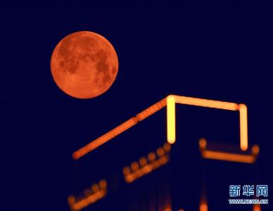 """周口上空的""""超级月亮"""""""