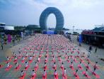 以瑜伽会友 提国际人气 第三届国际瑜伽日庆典暨第二届南太湖国际瑜伽节 在湖州太湖国家旅游度假区成功举办