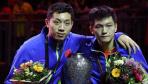 世乒赛男双颁奖仪式