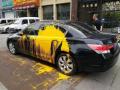 鞍山一車輛停消防通道一宿被潑漆 民警:違停會被處罰