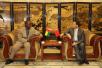 驻几内亚比绍大使金红军会见几比司法警察局长比艾