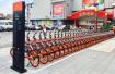 沈阳现首个共享单车立牌停车区 可停40到50辆车