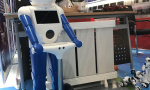 """""""鞍山制造""""家用机器人亮相创业周 能解答孩子的提问"""