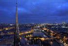 法国巴黎夜色无限