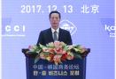 张高丽与韩国总统文在寅共同出席中韩商务论坛