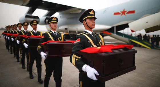 韩国向中方移交中国人民志愿军遗骸