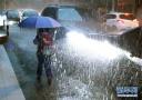 1小时雨量超65毫米!武汉遭遇强降雨 多路段渍水