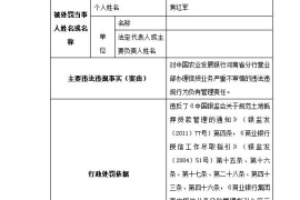 """办理信贷业务不审慎 农发行河南省分行""""吃""""七张罚单"""