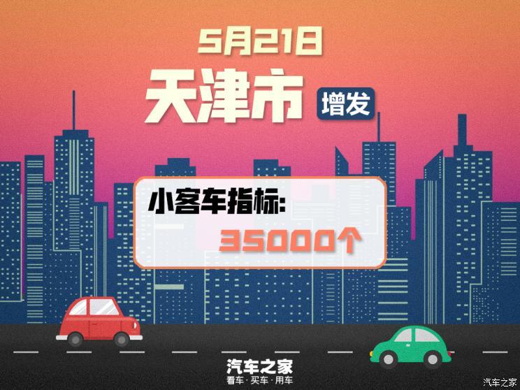 促汽车消费 天津市增发3.5万个指标