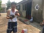 雲龍:落入居民家的受傷夜鷺被送到救護中心
