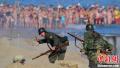 西班牙军迷重演诺曼底登陆 民众围观拍照